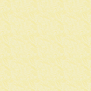 pale yellow art noveau squiggles