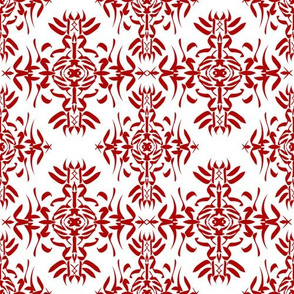 Red Calligraphy Pattern