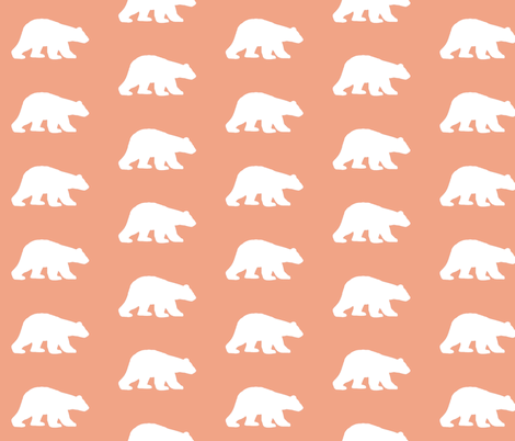 Bears in Soft PInk fabric by sproutz on Spoonflower - custom fabric