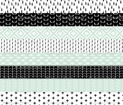 Modern Mint Wholecloth Quilt top