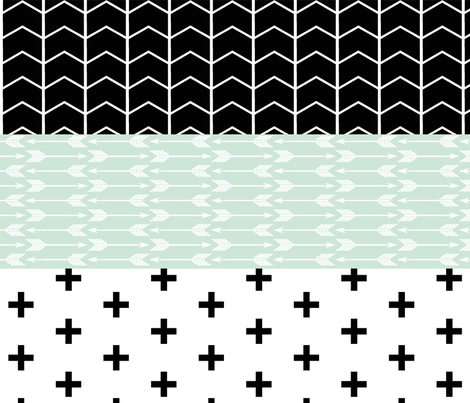 Modern Mint Wholecloth Quilt top  fabric by littlearrowdesign on Spoonflower - custom fabric