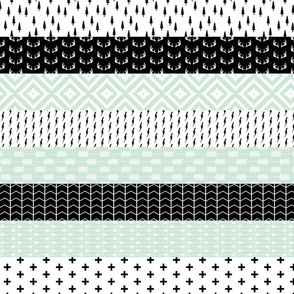 Modern Mint Wholecloth Quilt top