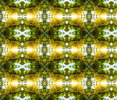 Golden Fruit on the Sun-Kissed Vine (Ref.4925) fabric by rhondadesigns on Spoonflower - custom fabric
