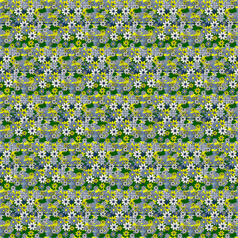 Celia Victorian Doll Yellow, Blue and White Flowers Fabric #2 fabric by lworiginals on Spoonflower - custom fabric