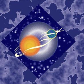 Sun and Earth in Orbit Runner Size