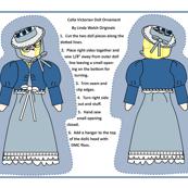 Celia Cut and Sew Doll Ornament