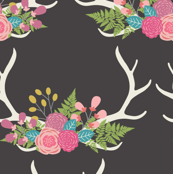Floral Antlers - Small Scale