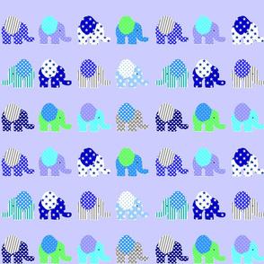 blue elephant parade