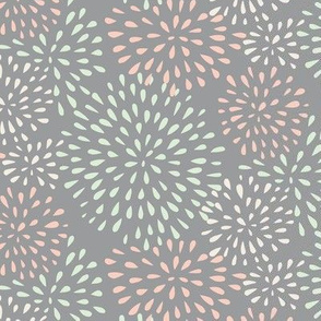 Flower Bursts (grey) - Wedding Palette 2016