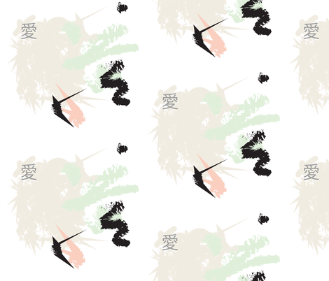 love_2_Japan, kanji fabric by isabella_asratyan on Spoonflower - custom fabric