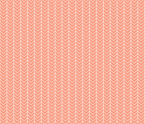Blush Sprigs and Blooms Coordinate Chevron 6 fabric by ivieclothco on Spoonflower - custom fabric