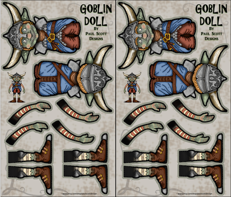 Goblin Doll fabric by paul_scott_designs on Spoonflower - custom fabric