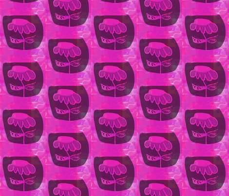 Hot Pink Flower 2 fabric by susaninparis on Spoonflower - custom fabric