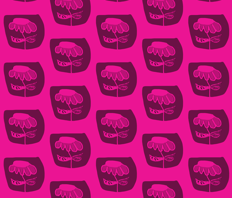 Hot Pink Flower 1 fabric by susaninparis on Spoonflower - custom fabric