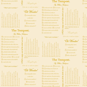 Shakepeare's The Tempest (Ivory & Gold)