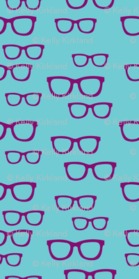 Purple Teal Glasses