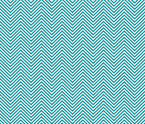 Teal Chevron fabric by anchored_by_love on Spoonflower - custom fabric