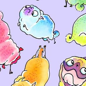 Rainbow Pugs - Lavender