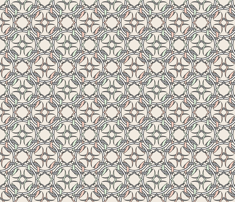 Celtic Inspired Pastels on Ivory fabric by anderson_designs on Spoonflower - custom fabric