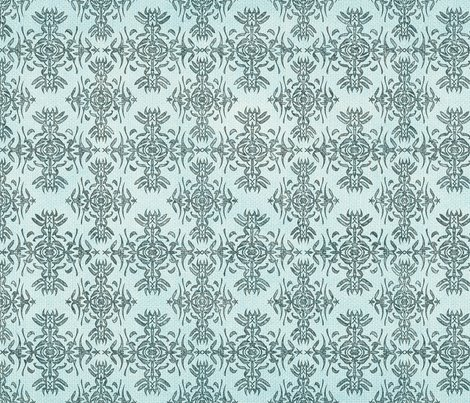 Teal On Blue Calligraphy Fabric Pwmarcus Spoonflower