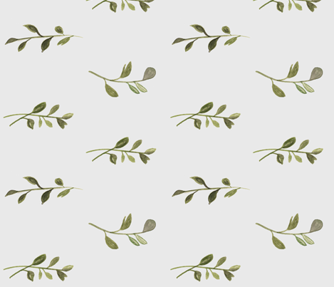 Vines (grey background) fabric by pacemadedesigns on Spoonflower - custom fabric