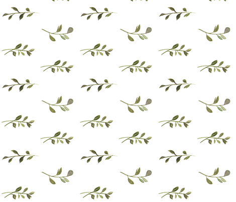 Vines (white background) fabric by pacemadedesigns on Spoonflower - custom fabric