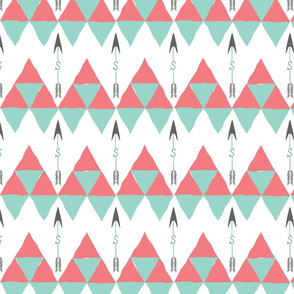 Saylor Arrow Coral Mint