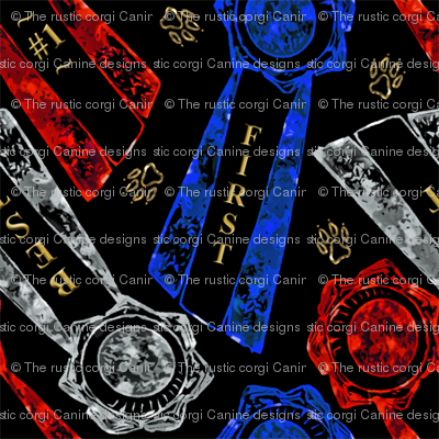 Red white blue rosettes - small