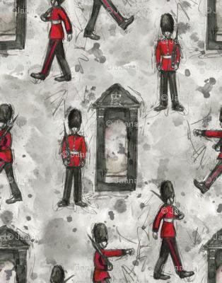 Queen's Guard in Ink