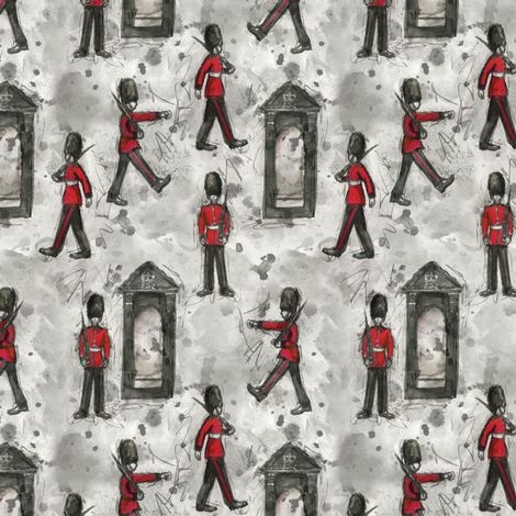 Queen's Guard in Ink fabric by jaana on Spoonflower - custom fabric
