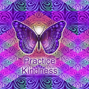 Purple Butterfly Practice Kindness