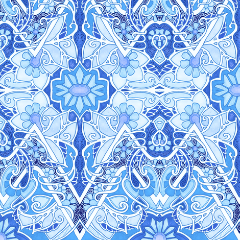 My Blue Heavens fabric by edsel2084 on Spoonflower - custom fabric