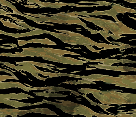 Vietnamese Tiger Stripe Camo Venom Snake fabric by jamiekoala on Spoonflower - custom fabric