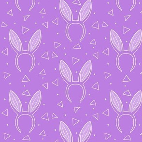 Bunny ears on purple