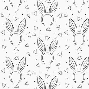Bunny ears on light gray