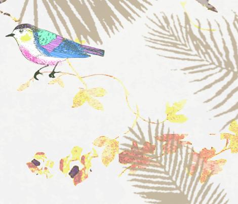Tropical Birds fabric by rachelle_caliolio_design on Spoonflower - custom fabric