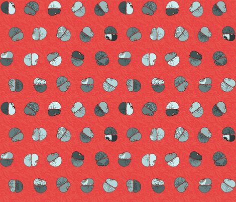 red hot polka dot fabric by mophead on Spoonflower - custom fabric