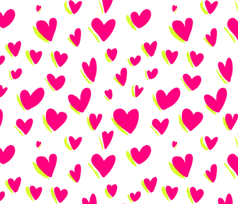 Heartlite Seamless fabric by frootjoos on Spoonflower - custom fabric