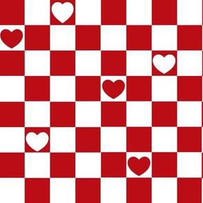 checkerd heart