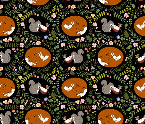 Friendship in Wildlife fabric by mia_valdez on Spoonflower - custom fabric