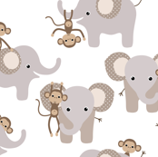 monkey and elephant