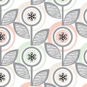 Footnote Flower (Wedding Bliss) || midcentury modern garden floral flowers leaves nature upholstery