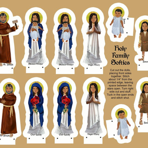 Holy Family cut and sew softies