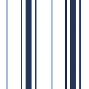Blue Stripe Navy Stripe Carolina Blue Stripe Preppy Ticking