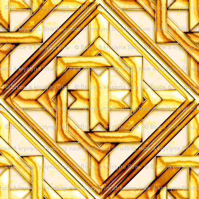 Marble_Quilt_Gold_Diagonal 27""