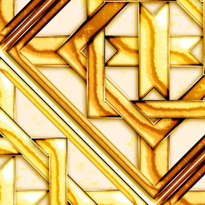 """Marble_Quilt_Gold_Diagonal 27"""""""