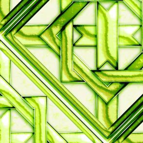 "Marble Quilt Lt Green Diagonal 27"""