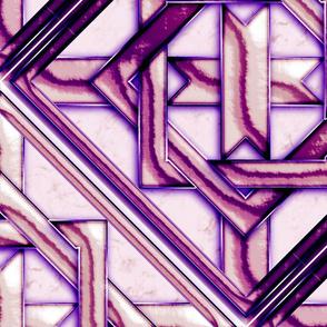 """Marble Quilt Purple Diagonal 27"""""""