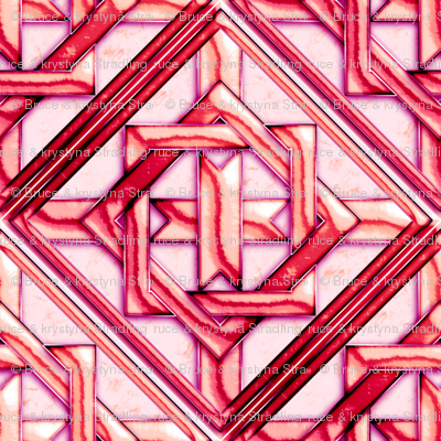 Marble Quilt Pink Diagonal 27""