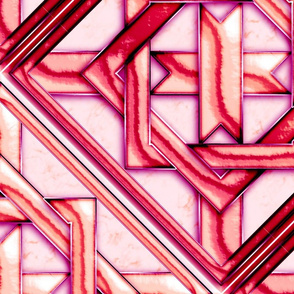 """Marble Quilt Pink Diagonal 27"""""""